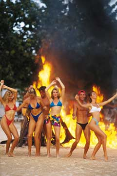 Beach Bondfire at Hedo in Jamaica