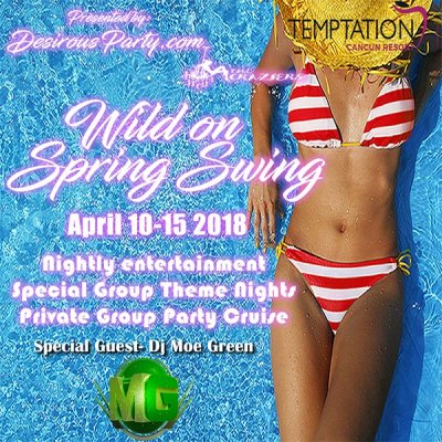 Wild on Spring Swing at Desire Pearl Puerto Morelos