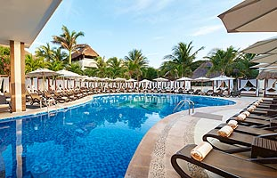 Heated Outdoor Pool at Desire Resort Riviera Maya