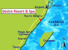 Desire Resort Riviera Maya map