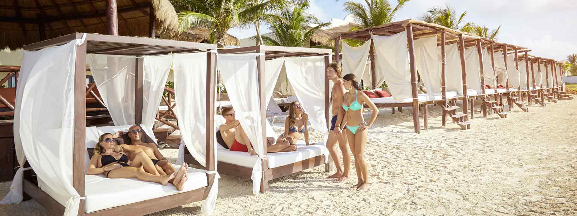 beach beds for just relaxing at Desire Resort