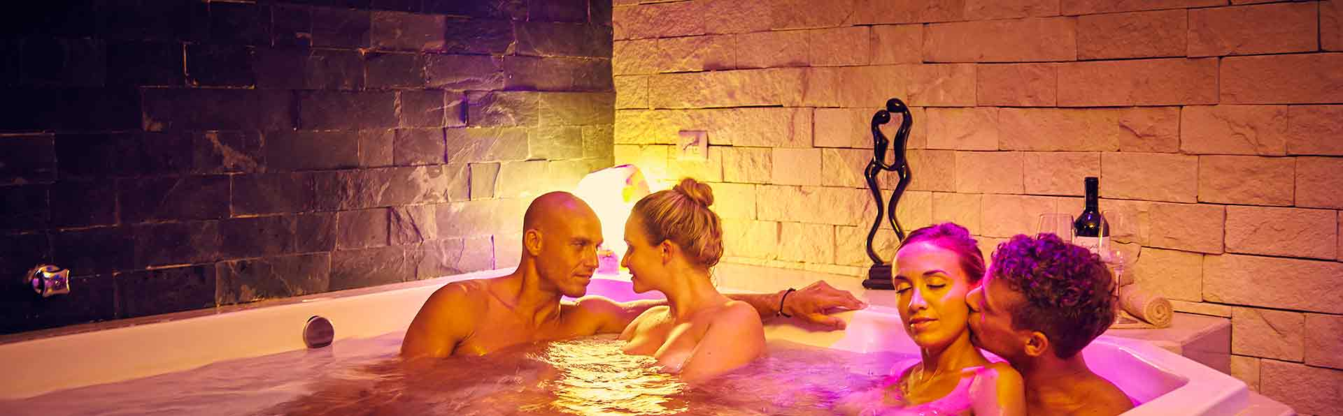 Exotic Spa Jacuzzi at Desire Resort Riviera Maya