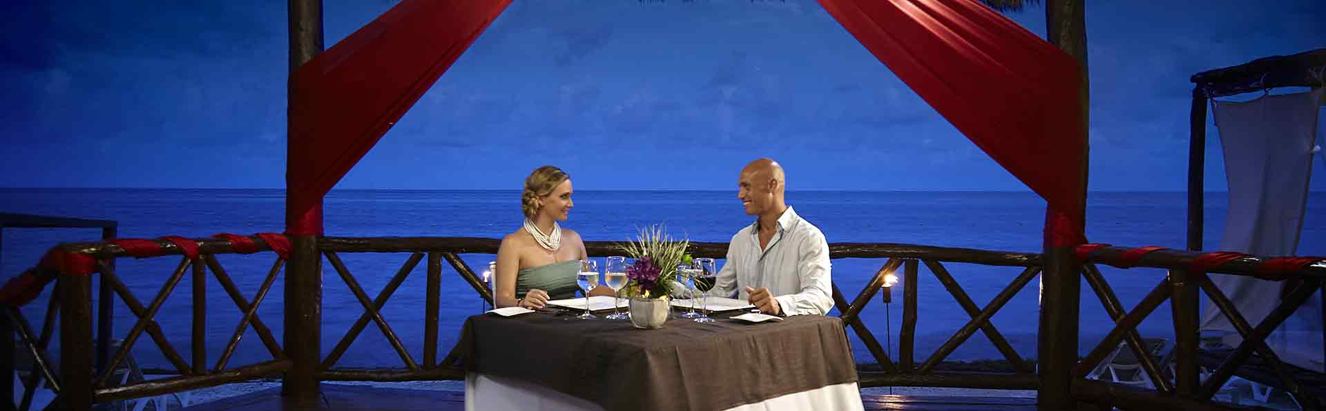 Romantic Beachside Gazebo Dinner at Desire Resort Riviera Maya