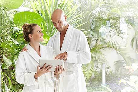 Couple at Exotic Spa